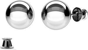 GIORRE Srebrne kolczyki KULKA 1,0 cm 925 : Kolor pokrycia srebra - Pokrycie Czarnym Rodem
