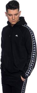 Czarna bluza Kappa z nadrukiem