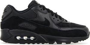 Czarne buty sportowe Nike air max 90 sznurowane w sportowym stylu