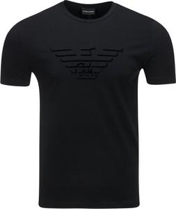 T-shirt Emporio Armani z nadrukiem z zamszu