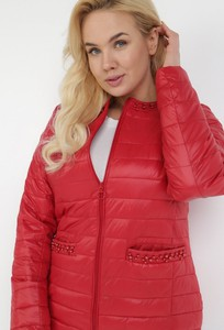 Czerwona kurtka born2be krótka w stylu casual