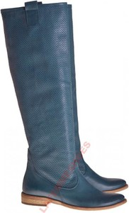 6cb13e90d5236 Niebieskie kozaki Lafemmeshoes z płaską podeszwą