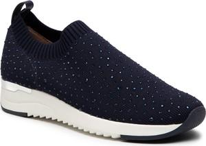 Granatowe buty sportowe Caprice na platformie