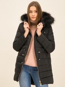 Czarna kurtka Trussardi Jeans w stylu casual długa