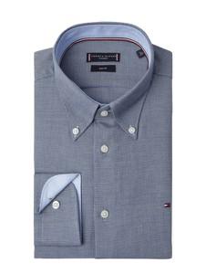 Niebieska koszula Tommy Tailored z bawełny z długim rękawem