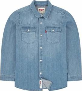 Granatowa koszula dziecięca Levis z jeansu