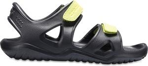 Czarne buty dziecięce letnie Crocs dla chłopców na rzepy