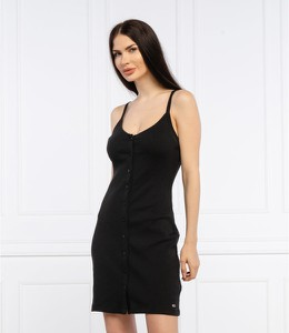 Sukienka Tommy Jeans mini z dekoltem w kształcie litery v