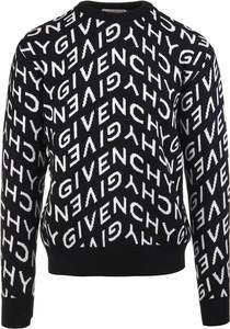 Czarny sweter Givenchy z okrągłym dekoltem z wełny w młodzieżowym stylu