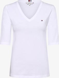T-shirt Tommy Hilfiger z krótkim rękawem w stylu casual z dekoltem w kształcie litery v