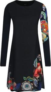 Sukienka Desigual w stylu casual mini z długim rękawem