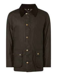 Zielona kurtka Barbour długa ze sztruksu w stylu casual