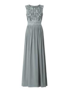 Sukienka Lace & Beads maxi z szyfonu