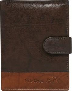 251859565406d portfel damski always wild. Brązowy portfel męski Always Wild na karty  kredytowe w młodzieżowym stylu ze skóry