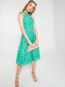 Zielona sukienka V by Very bez rękawów