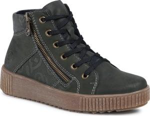 Zielone buty sportowe eobuwie.pl na platformie sznurowane