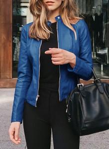 Niebieska kurtka Cikelly krótka w stylu casual