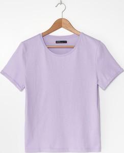 Fioletowa bluzka House z bawełny