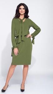 Sukienka Bien Fashion midi z tkaniny z długim rękawem