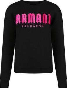 Czarna bluza Armani Jeans krótka w stylu casual