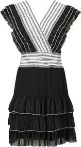 Sukienka Silvian Heach z dekoltem w kształcie litery v mini bez rękawów