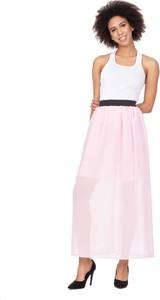 Różowa spódnica Rennwear z szyfonu