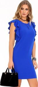 Sukienka MERRIBEL z okrągłym dekoltem mini