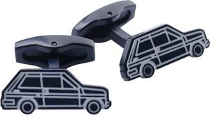 Lavard Granatowe spinki z motywem samochodu 57101