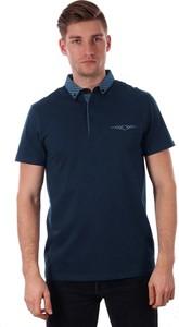 Granatowa koszulka polo Just yuppi z krótkim rękawem