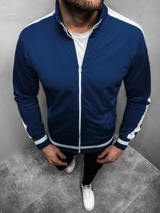 Granatowa bluza Ozonee w stylu casual