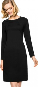 Czarna sukienka L'AF z okrągłym dekoltem