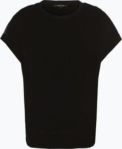 Czarna bluzka Opus z szyfonu z okrągłym dekoltem z krótkim rękawem