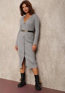 Sukienka Renee z dekoltem w kształcie litery v w stylu casual midi
