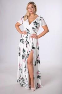 Sukienka Ptakmoda.com maxi kopertowa z dekoltem w kształcie litery v
