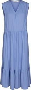 Niebieska sukienka Numph bez rękawów