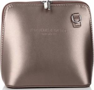Brązowa torebka VITTORIA GOTTI w stylu casual ze skóry średnia