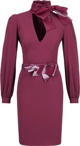 Sukienka Elisabetta Franchi dopasowana w stylu casual z długim rękawem
