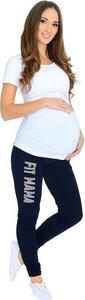 Granatowe spodnie Inne w stylu casual z dresówki