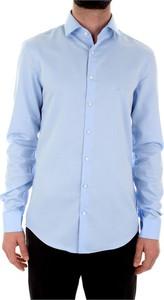 Niebieska koszula Calvin Klein z bawełny