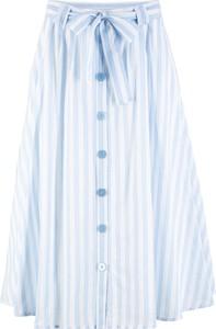 Niebieska spódnica bonprix bpc bonprix collection w stylu casual