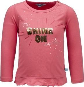 Różowa bluzka dziecięca Lief z długim rękawem dla dziewczynek