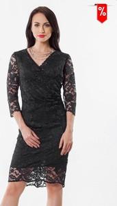Sukienka Semper dopasowana z długim rękawem