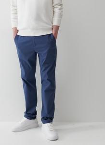 Niebieskie chinosy Reserved z bawełny w stylu casual