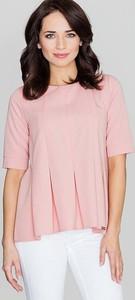 Różowa bluzka Katrus z krótkim rękawem