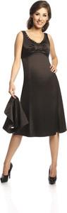 Czarna sukienka Fokus midi