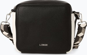 Czarna torebka L.Credi średnia na ramię