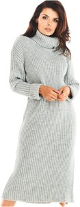 Sukienka Awama midi z golfem w stylu casual