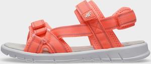 Różowe buty dziecięce letnie 4F ze skóry dla dziewczynek