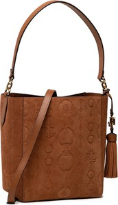 Brązowa torebka Ralph Lauren na ramię matowa w stylu casual
