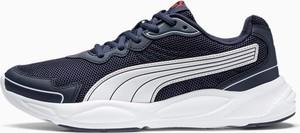 Granatowe buty sportowe Puma ze skóry